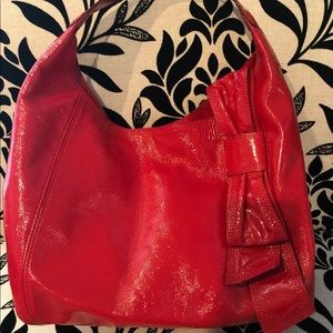 KATE SPADE 'claverly spadette' Red Patent Leather
